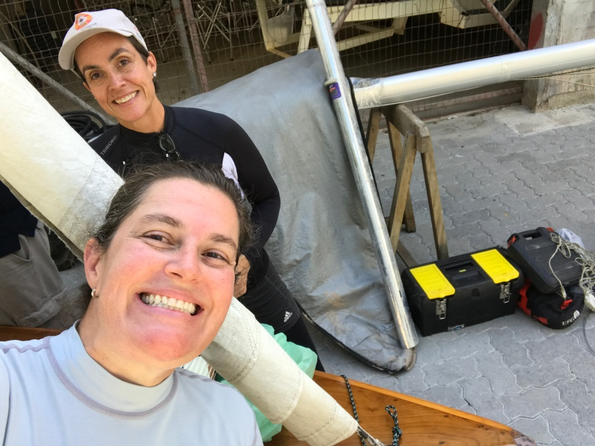 tripulação do Bermuda: Paola e Georgia